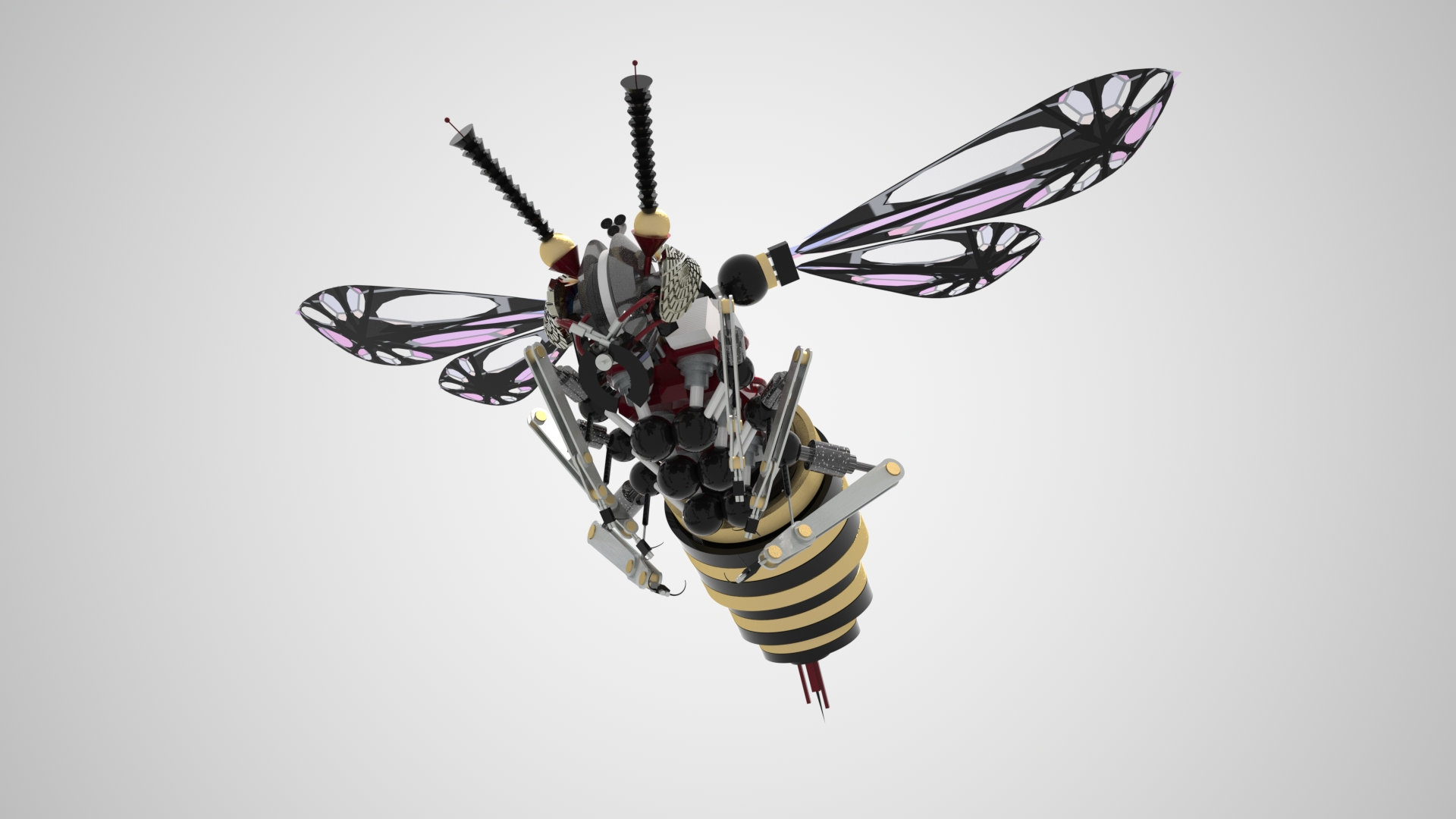 hive rd 3d mechanical insect gallery