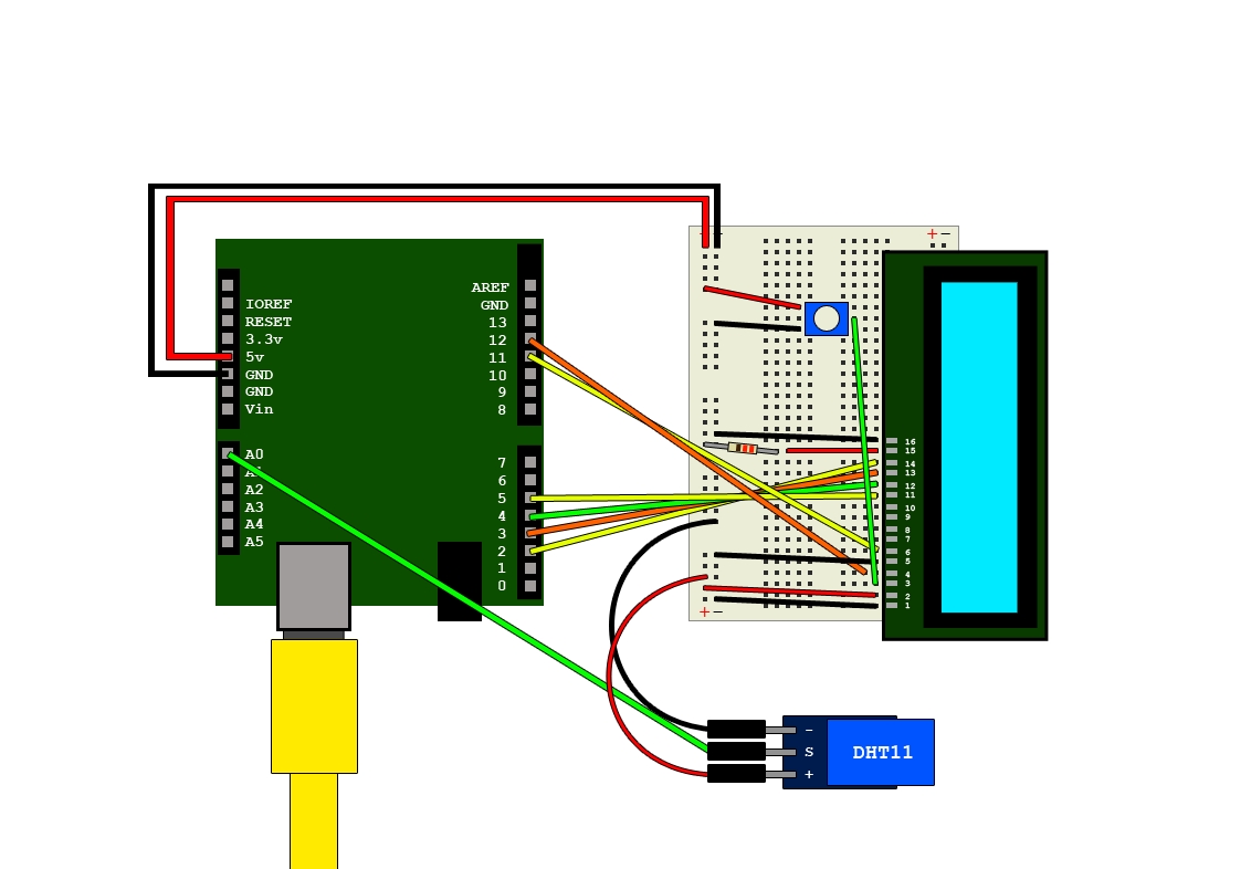 Arduino And Dht11 Output To Lcd Module Hive Rd Blog Pc 3 Pin Fan Wire Diagram Wiring